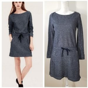 Lou & Grey | drawstring waist sweatshirt dress